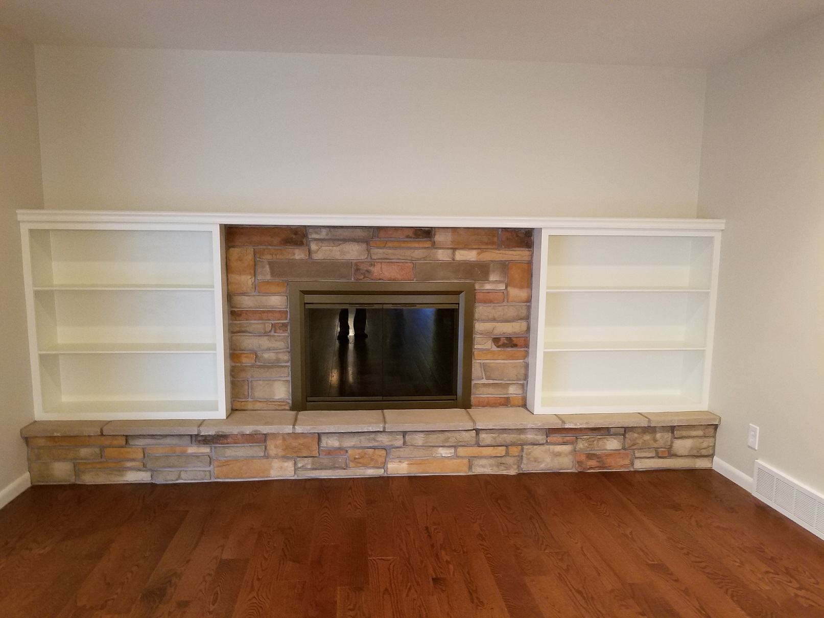 After Fireplace Remodel, Custom Woodwork