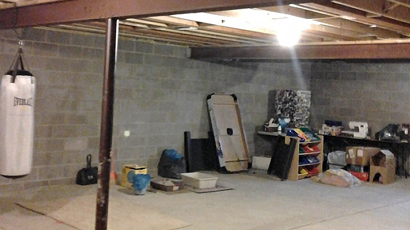 Before Basement Remodel, Under 50K