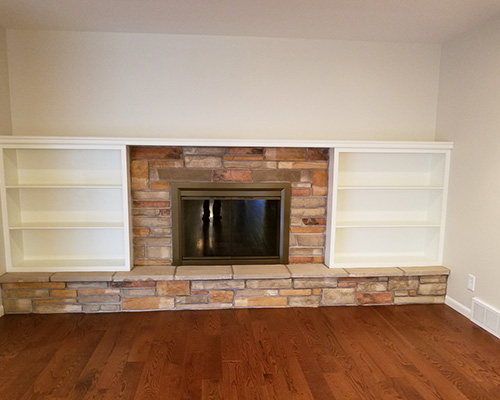 Custom Woodwork, After Fireplace Remodel