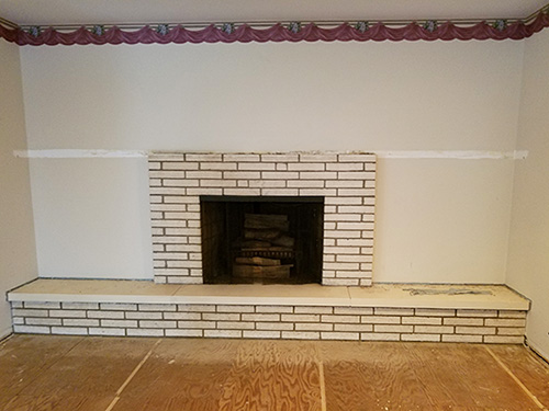 Before Dream Home Construction Fireplace Remodel