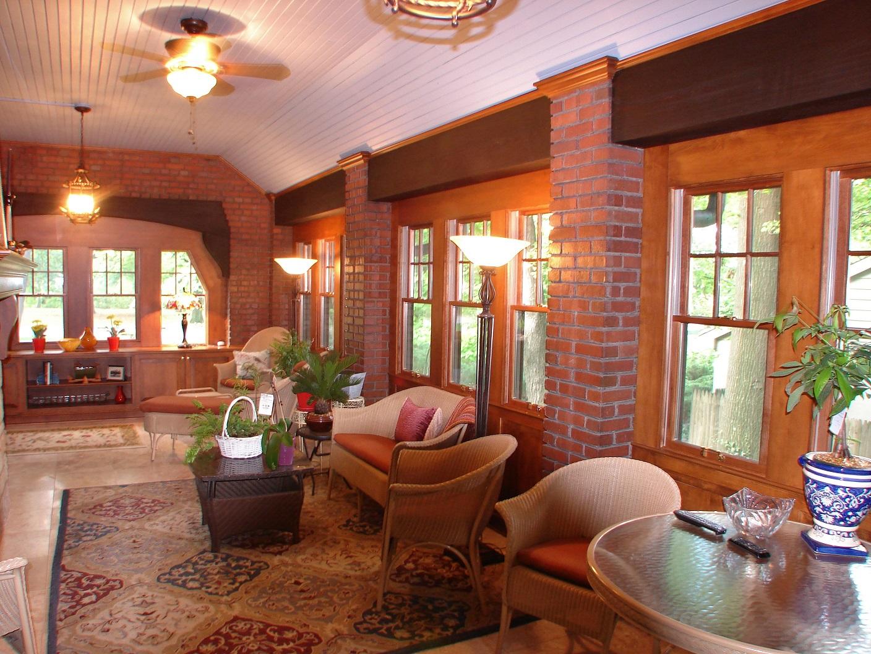 Brick and Wood, Sunroom, Custom Woodwork, Dream Home
