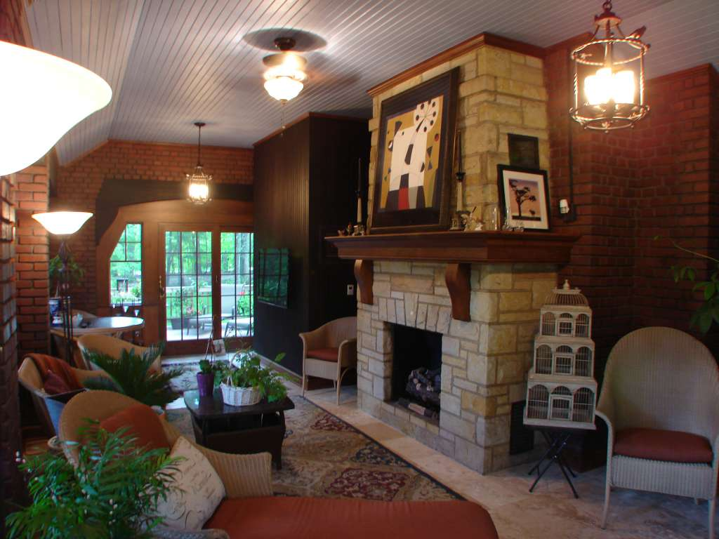 After Sun Room Renovation with Custom Woodwork
